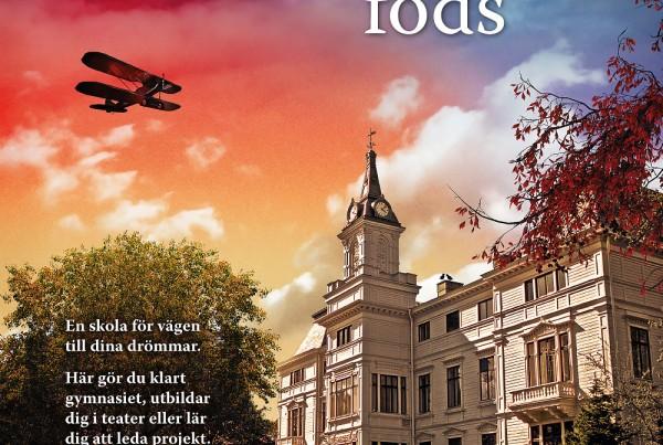 Affisch - Wendelsberg - Där möjligheter föds, designad av Bullit Reklambyrå