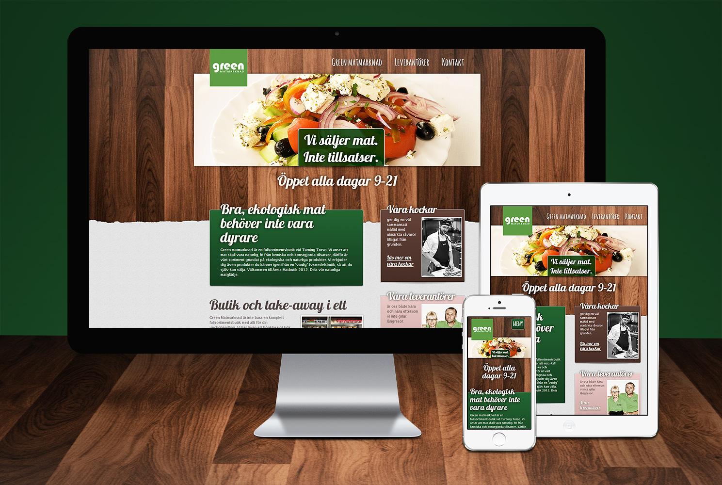Hemsida Green Matmarknad