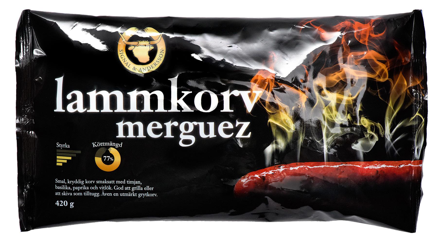 Förpackning lammkorv merguez - Design av Peter Berglund, Bullit Reklambyrå