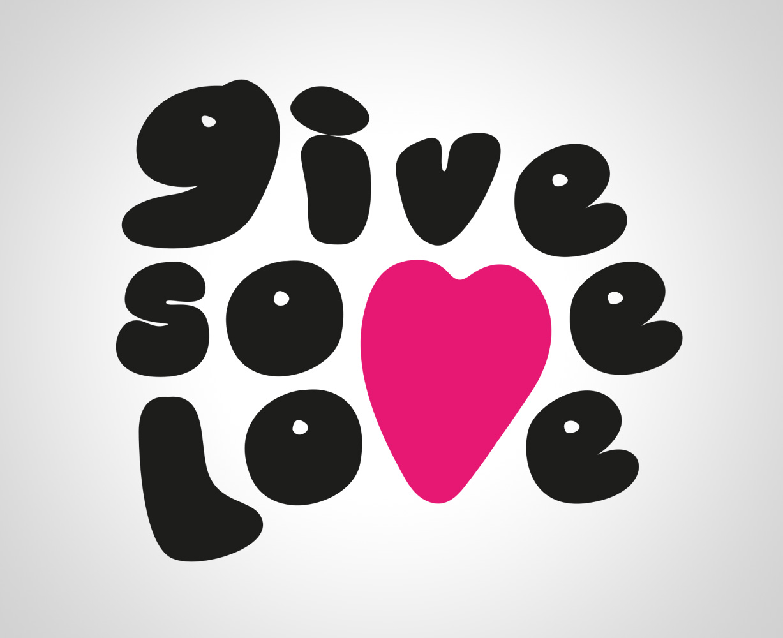 Logo för danstävlingen Give some love, designad av Peter Berglund, Bullit Reklambyrå