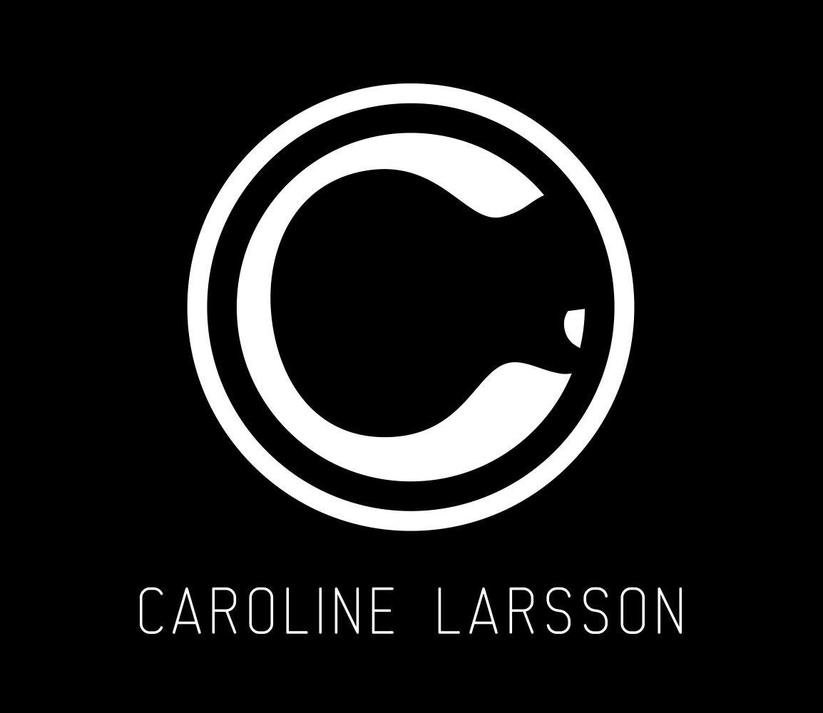 Logo för musikern Caroline Larsson, designad av Peter Berglund, Bullit Reklambyrå