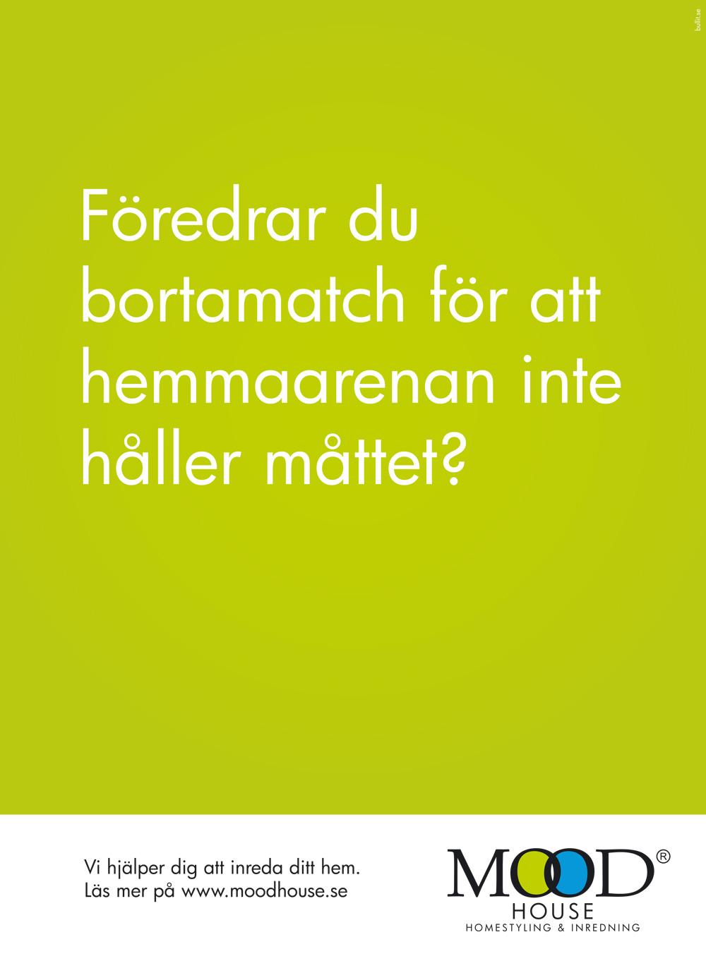 Annons för Moodhouse i fotbollsmagasinet Four four two, av Peter Berglund, Bullit Reklambyrå